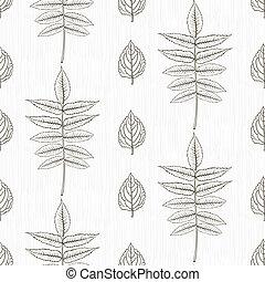 modèle, lignes, élégant, mince, pousse feuilles, dessiné