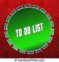 modèle, liste, arrière-plan., vert, écusson, rouges