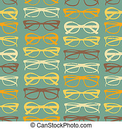 modèle, lunettes soleil, seamless
