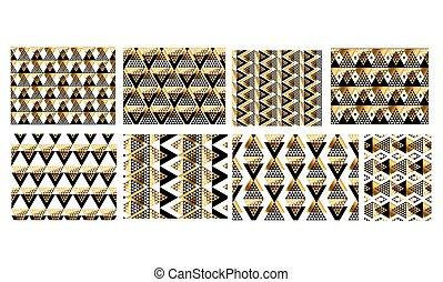 modèle, luxe, géométrie, seamless, tribal