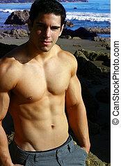modèle, mâle jeune, fitness
