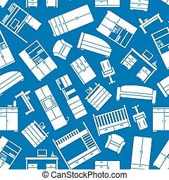 modèle, ménage, meubles bureau