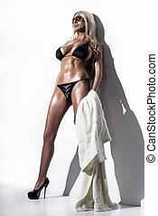 modèle, mode, bikini