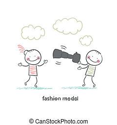 modèle, mode