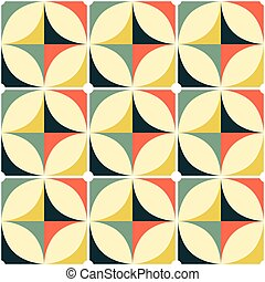 modèle, moderne, géométrique, style, vendange, motif, ...