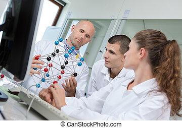 modèle moléculaire, scientifique, prof, point