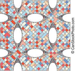 modèle, mosaïque, géométrique