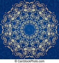 modèle, motif, décoratif, seamless, ottoman