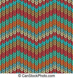 modèle, multicolore, zigzag, seamless, tricoté