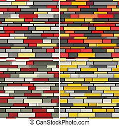 modèle, murs, seamless