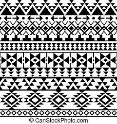 modèle, navajo, noir, seamless