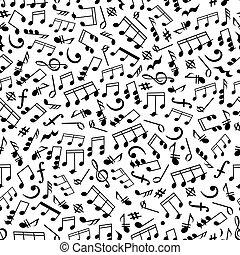 modèle, notes, musique, seamless, fond