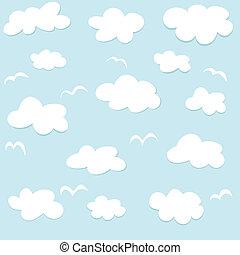 modèle, nuages, seamless