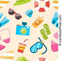 modèle, objets, tourisme, seamless