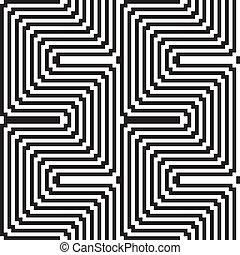modèle, -, optique, noir, blanc, illusion