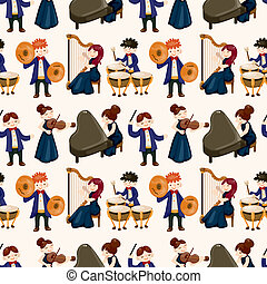 modèle, orchestre, musique, seamless, joueur