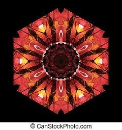 modèle, ornement, crystals., ethnique, géométrique, fleurs
