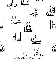 modèle, orthopédique, vecteur, seamless