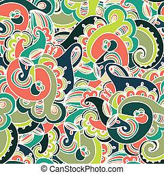 modèle,  Paisley,  seamless, coloré, magnifique