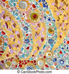 modèle, papier peint, mosaic.