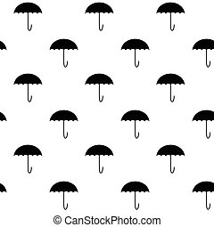 modèle, parapluie blanc, noir