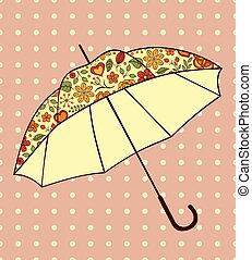 modèle, parapluie, floral