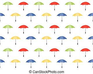 modèle, parapluie, seamless, fond, coloré