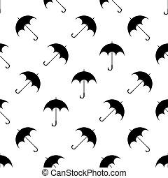 modèle, parapluie, seamless, icône