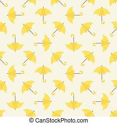 modèle, parapluie, seamless, jaune