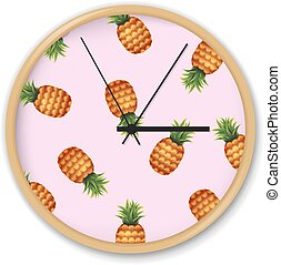 modèle, pastèque, horloge