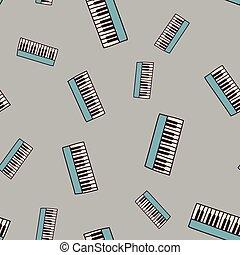 modèle, piano, seamless