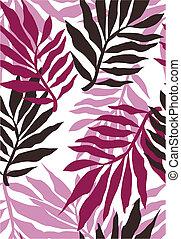 modèle, plante, papier peint, seamless