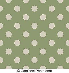 modèle, polka, seamless, arrière-plan vert, point