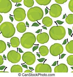 modèle, pommes, vecteur, illustration., seamless