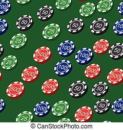 modèle, puces poker, seamless