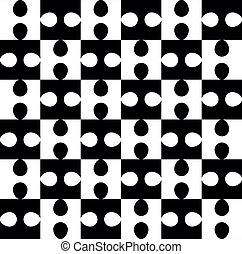 modèle, puzzle, blanc, noir, seamless