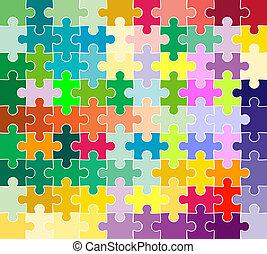 modèle, puzzle, puzzle
