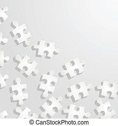 modèle, puzzle, vecteur, illustration, arrière-plan.