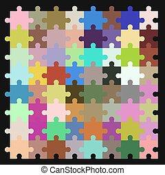 modèle, puzzle, vecteur, seamless