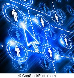 modèle, réseau, social