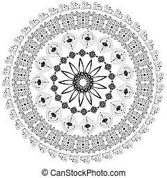 modèle, résumé, arabesques, circulaire