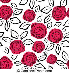 modèle, résumé, flowers., seamless, rose