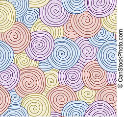 modèle, résumé, fond, seamless, spirale