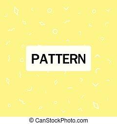 modèle, résumé, jaune, vecteur, fond, géométrique, image