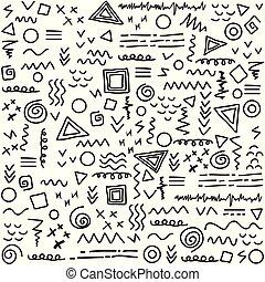 modèle, résumé, lignes, seamless, géométrique