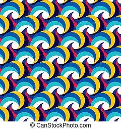 modèle, résumé, seamless, curls., spirales, waves.
