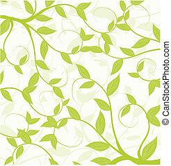 modèle, résumé, seamless, feuilles