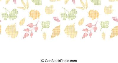 modèle, résumé, seamless, texture, textile, fond, automne, horizontal, feuilles