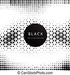 modèle, résumé, vecteur, hipster, fond, noir, géométrique, image