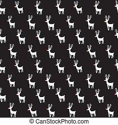 modèle, rêne, vecteur, seamless, deers.
